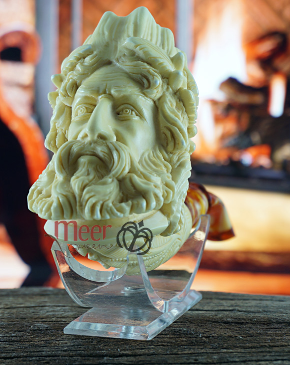 Zeus Block Meerschaum Pipe|Double Stem