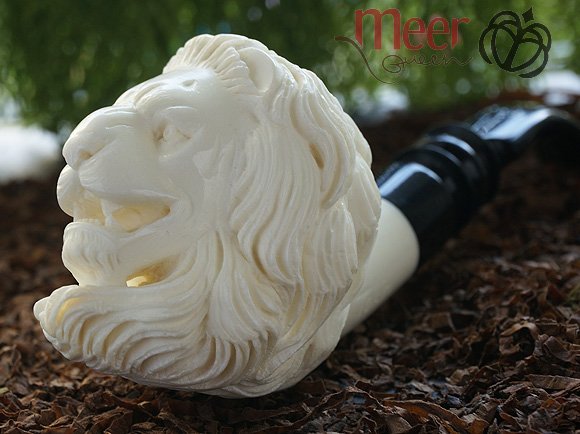 Lion Block Meerschaum Pipe |DIAMOND SERIES