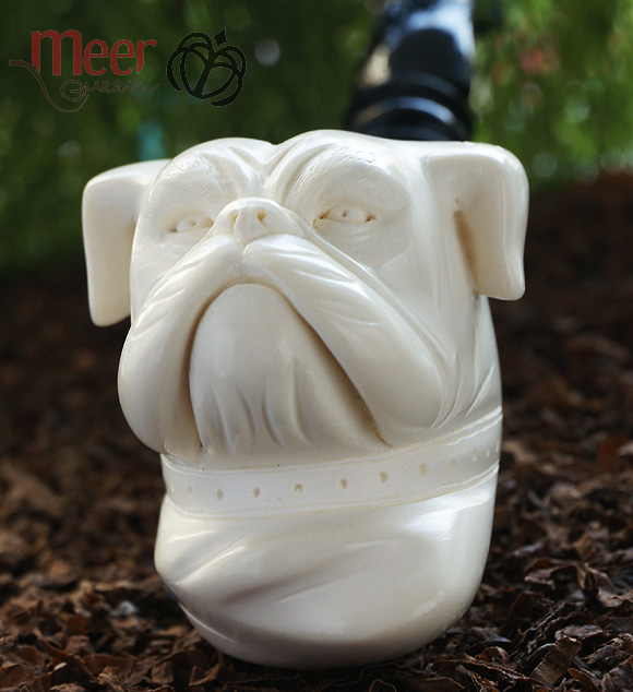 Bulldog Block Meerschaum Pipe |DIAMOND SERIES