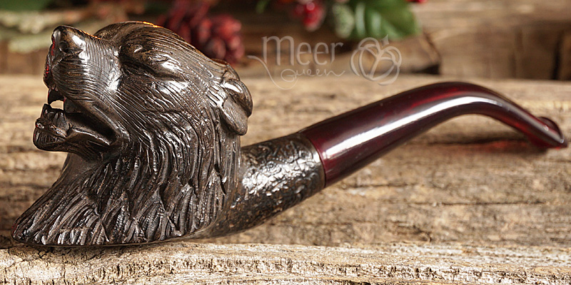 Antique looking Dog Block Meerschaum Pipe by Salim |GOLDEN SERIES