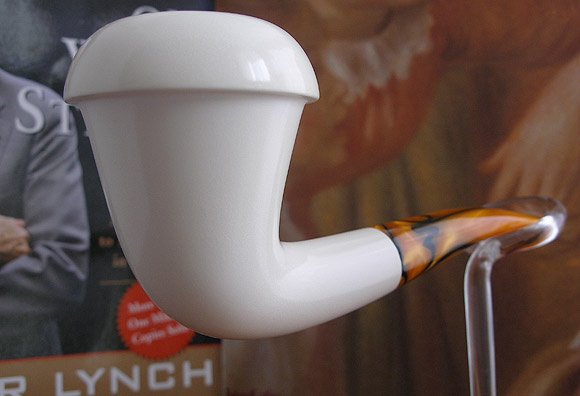 Smooth Calabash Block Meerschaum Pipe |DIAMOND SERIES