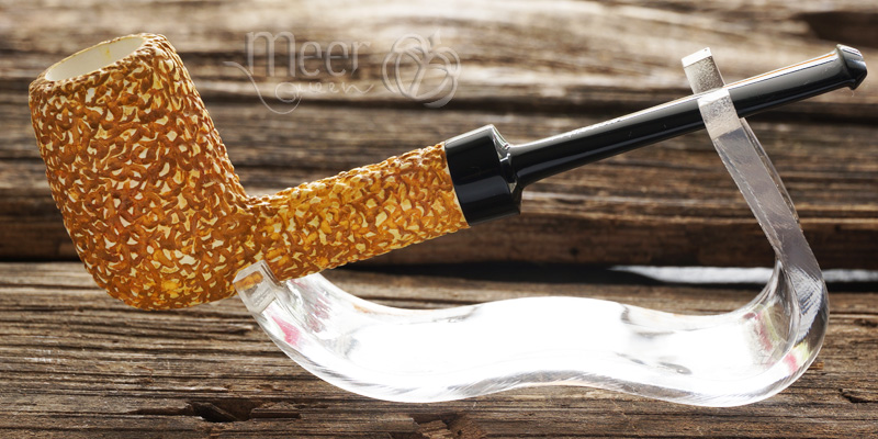 Rustic Classic Block Meerschaum Pipe by Tekin |DIAMOND SERIES