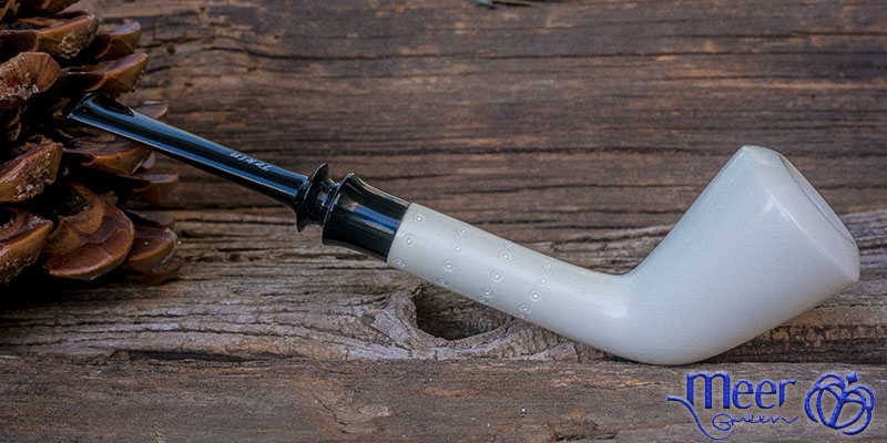 Smooth Classic Block Meerschaum Pipe by Tekin |DIAMOND SERIES