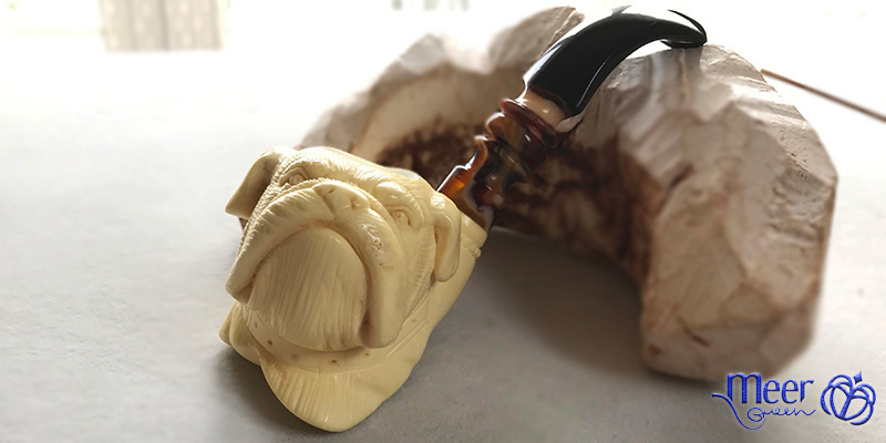 Bulldog Block Meerschaum Pipe by Salim |Golden Series