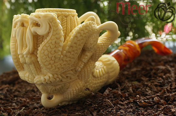 Double Dragon Meerschaum Pipe