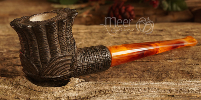 Rose Meerschaum Pipe by Salim |GOLDEN SERIES