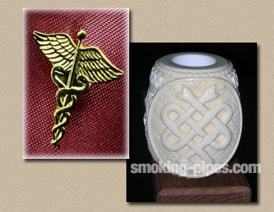 Medical Emblem Meerschaum Pipe