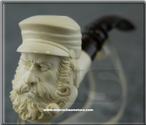 Southern Civil War Soldier Meerschaum Pipe